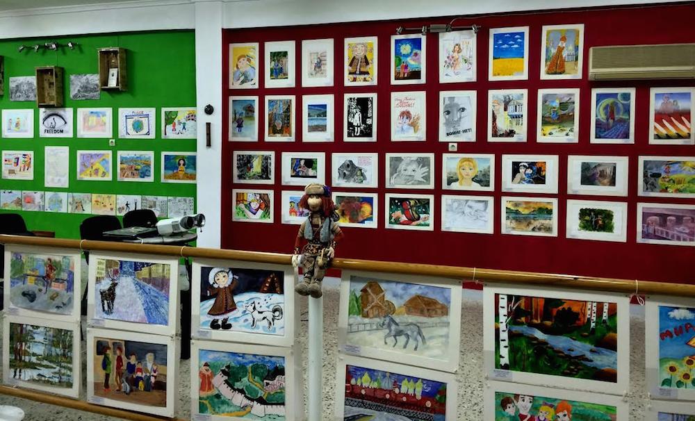 εκθεση ζωγραφικης παιδια  πολεμος