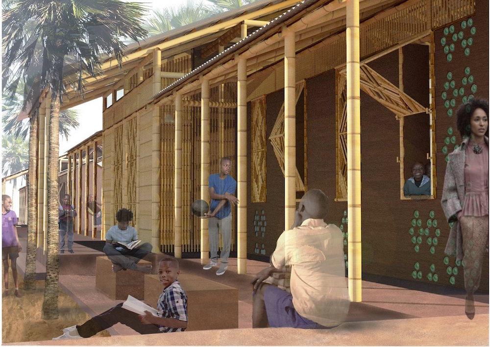 Απεικόνιση της πρόταση της ομάδας του ΑΠΘ για τη σχολική αίθουσα.