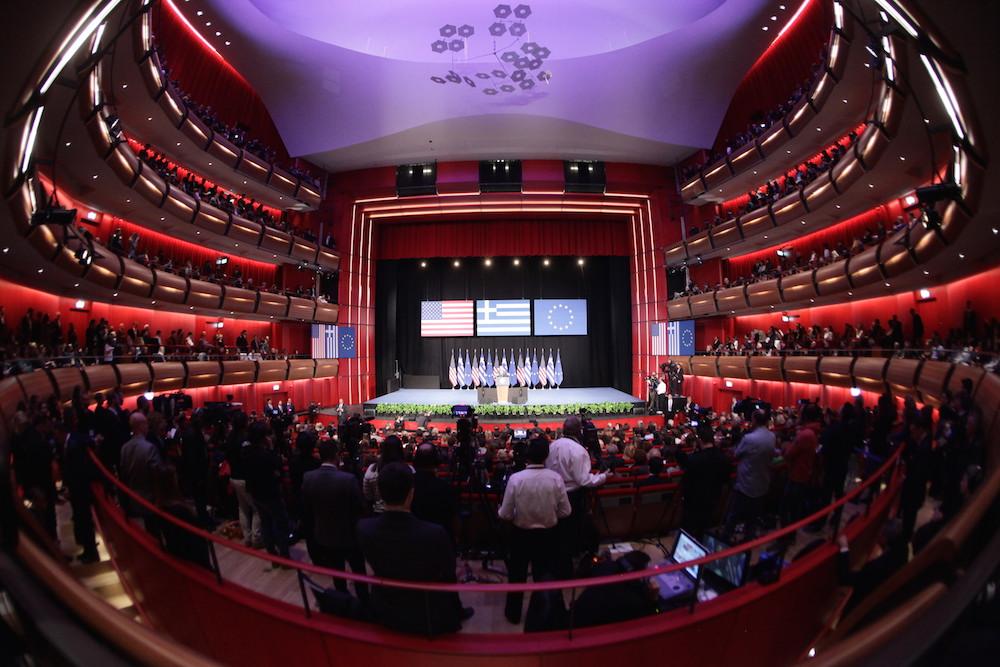 Ομιλία του Μπαράκ Ομπάμα στο Κέντρο Πολιτισμού Σταύρος Νιάρχος