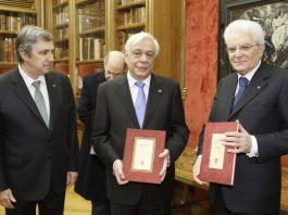 Προκόπης Παυλόπουλος, Sergio Mattarella, στην Ωνάσειο Βιβλιοθήκη