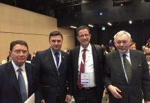 Ο Γ.Γ. Τουριστικής Πολιτικής & Ανάπτυξης κ. Γιώργος Τζιάλλας με τον Γ.Γ. του Παγκόσμιου Οργανισμού Τουρισμού κ. Τάλεμπ Ριφάι, τον Υπουργό Αθλητισμού και Τουρισμού της Πολωνίας κ.Witold Bańka και τον Δήμαρχο Κρακοβίας κ.Jacek Majchrowski