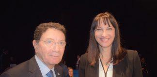 Η Υπουργός Τουρισμού Έλενα Κουντουρά με τον Γενικό Γραμματέα του Παγκόσμιου Οργανισμού Τουρισμού Τάλεμπ Ριφάι