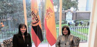 Η Υπουργός Τουρισμού Έλενα Κουντουρά με την Υπουργό Εμπορίου, Βιομηχανίας και Τουρισμού της Κολομβίας κα Maria Lorena Gutierrez