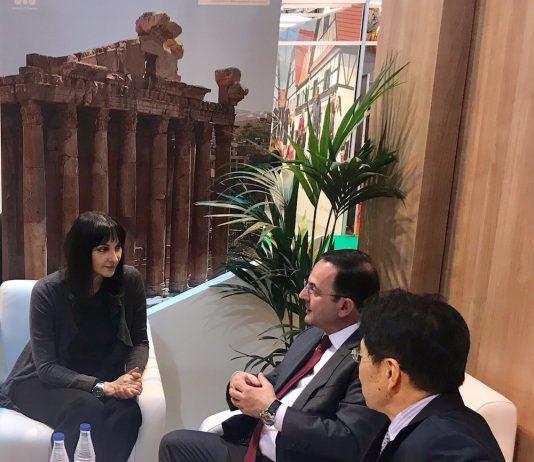 Η Υπουργός Τουρισμού Έλενα Κουντουράμε τον Υπουργό Τουρισμού του Λιβάνου Avedis Guidanian