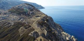 Αν Αεροφωτογραφία του Δασκαλιού (Πηγή: ΥΠΠΟΑ/Βρετανική Σχολή Αθηνών)