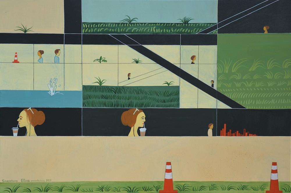 Elias Papanikolaou Αποδράσεις έκθεση Παρίσι