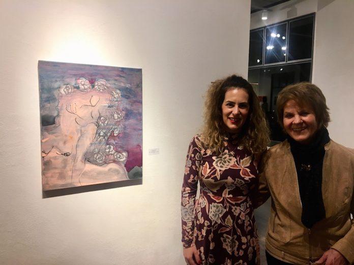 Η Αναστασία Γκινάκη με την ιδιοκτήτρια της γκαλερί Anixis Hanni Malcotsis - Ursprung
