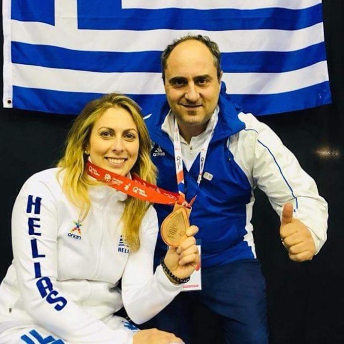 Κέλλυ Λουφάκη, ξιφασκίας με αμαξίδιο, Χάλκινο μετάλλιο Παγκόσμιο Πρωτάθλημα Μόντρεαλ