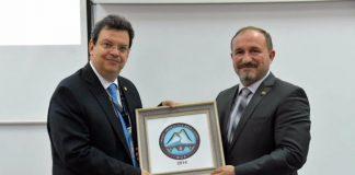 Ο Πρύτανης του ΑΠΘ, Καθηγητής Περικλής Α. Μήτκας, με τον Πρύτανη του Πανεπιστημίου του Τέτοβο, Prof. Dr. Vullnet Ameti