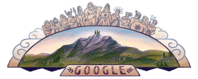 Celebrating mount olympus, Όλυμπος Google