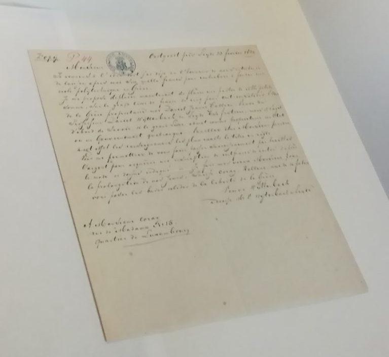 Χειρόγραφες επιστολές του Αδαμάντιου Κοραή, αλληλογραφία με φιλέλληνες για την οικονομική υποστήριξη της Επανάστασης.