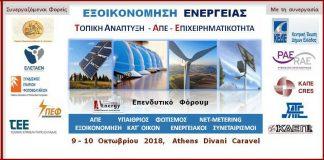 Διήμερο επενδυτικό συνέδριο Εξοικονόμηση Ενέργειας: Τοπική Ανάπτυξη, ΑΠΕ και Eπιχειρηματικότητα