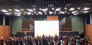 Από τη συναυλία στο αμφιθέατρο της Σχολής Ανθρωπιστικών Επιστημών του Πανεπιστημίου της Κολωνίας