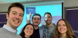 Μέλη των ομάδων iCry2Talk και TremorFreeMe, Ennovation 2018