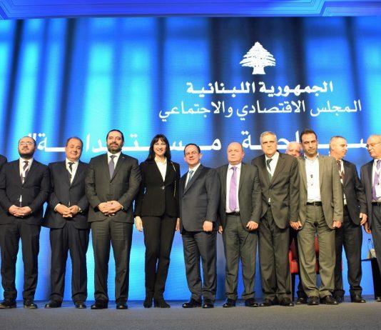 Η Υπουργός Τουρισμού Έλενα Κουντουρά με τον πρωθυπουργό του Λιβάνου, Saad Hariri, τον Υπουργό Τουρισμού του Λιβάνου Avedis Guidanian, κυβερνητικούς παράγοντες και φορείς του Λιβάνου