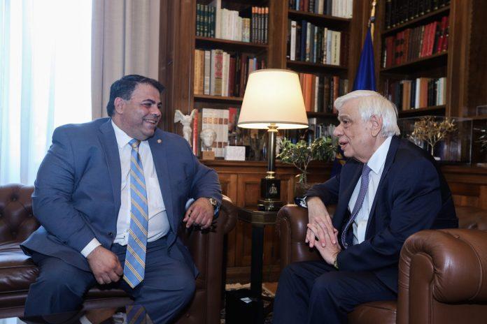 Συνάντηση του ΠτΔ Π.Παυλόπουλου με τον νεοεκλεγέντα Πρόεδρο της ΑΗΕΡΑ George Horiates