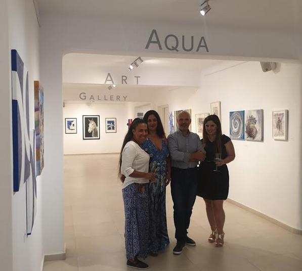 Aπό τα αριστερά προς τα δεξιά οι: Κέλλυ Αθανασιάδου - Managing director της RESTART Σοφία Ματζουράνη - Business Development Manager της Aqua Vista Hotels Γιώργος Τσολακάκης - Sales Director της Aqua Vista Hotels Μαρίνα Λυγνού - Hotel Manager του Art Hotel