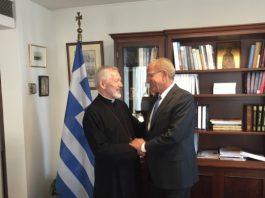 Συνάντηση του Υφυπουργού Εξωτερικών κ. Α. Διαματάρη με τον Σεβασμιώτατο Αρχιεπίσκοπο Καναδά, κ. Σωτήριο